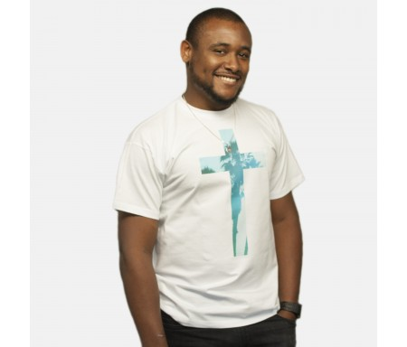 T-shirt H blanc Blue Cross L